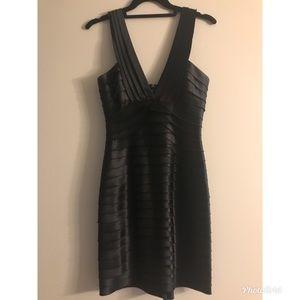 Bcbg black satin dress